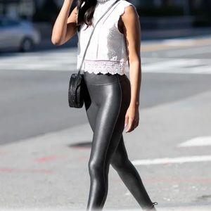 SPANX NWOT Faux Leather Leggings Black XS